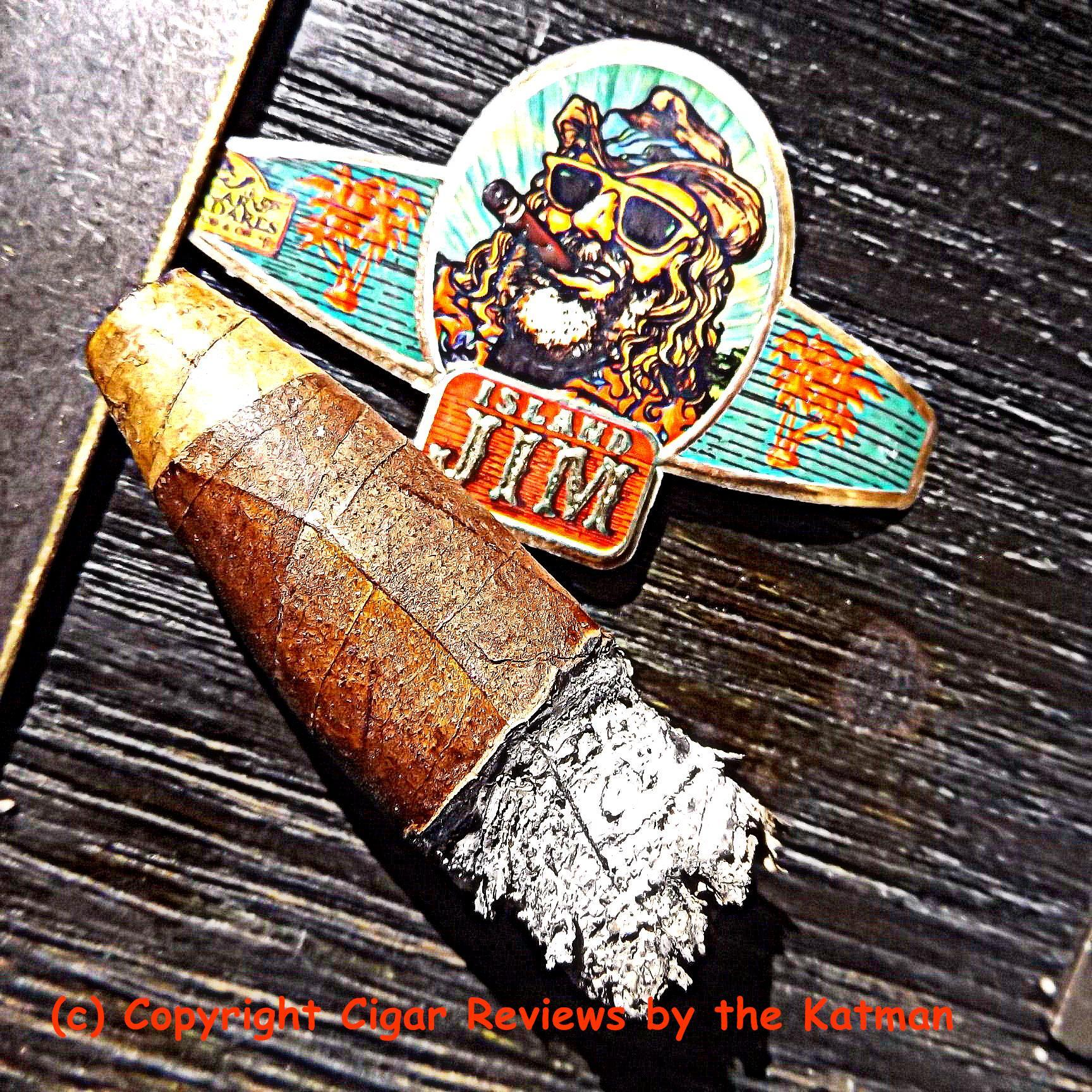 9a3c0c2647 Taking huge sips of water helps bring back the flavor profile temporarily.  The Island Jim  2 by Oscar Valladares ends very cool. No nicotine.